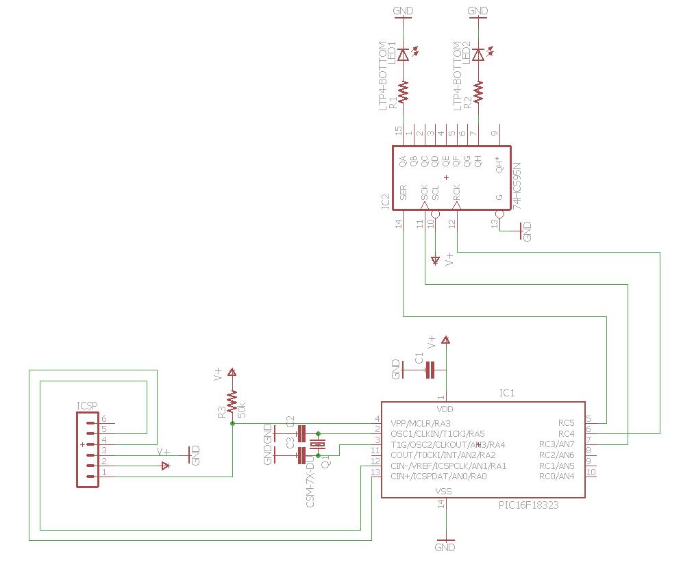 Bit Bang Software Shift Registers Apex Logic Register Circuit Diagram Shiftregisterbitbang